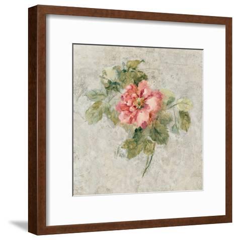 Provence Rose II Red and Neutral-Cheri Blum-Framed Art Print