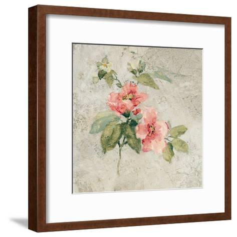 Provence Rose I Red and Neutral-Cheri Blum-Framed Art Print