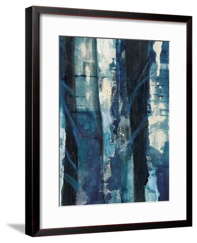Deep Woods I Indigo-Albena Hristova-Framed Art Print