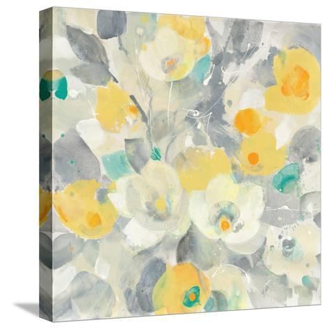 Buttercups I Teal-Albena Hristova-Stretched Canvas Print