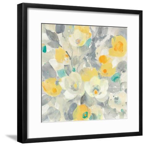 Buttercups I Teal-Albena Hristova-Framed Art Print