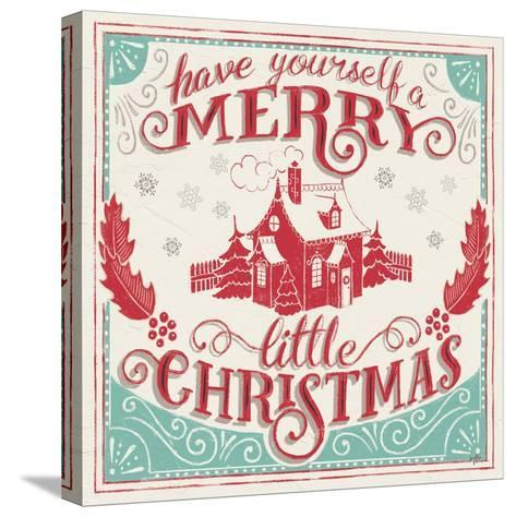 Merry Little Christmas V-Janelle Penner-Stretched Canvas Print