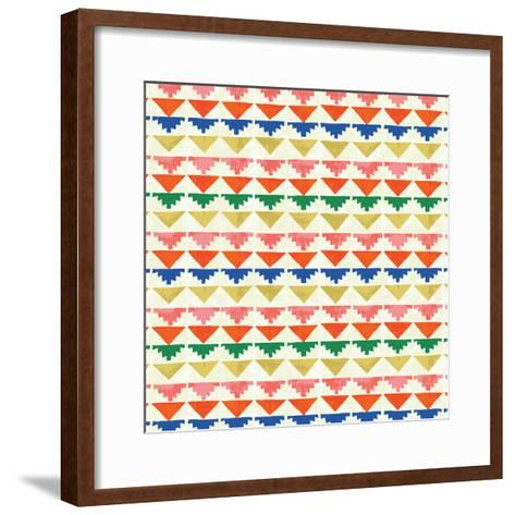 Wild Wood Tiles II Bright--Framed Art Print