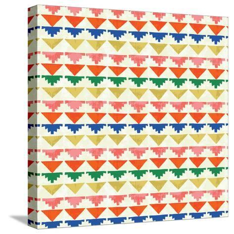 Wild Wood Tiles II Bright--Stretched Canvas Print