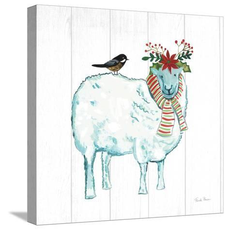 Holiday Farm Animals III-Farida Zaman-Stretched Canvas Print