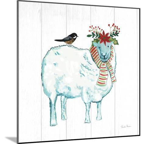 Holiday Farm Animals III-Farida Zaman-Mounted Art Print