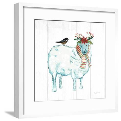 Holiday Farm Animals III-Farida Zaman-Framed Art Print