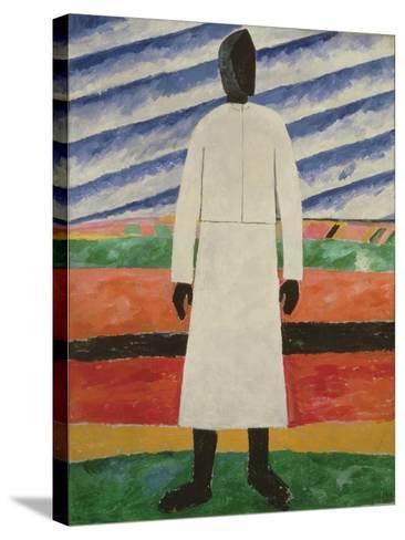 Peasant Woman, 1928-32-Kazimir Severinovich Malevich-Stretched Canvas Print