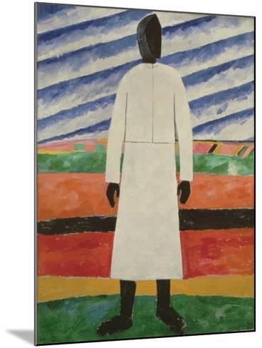 Peasant Woman, 1928-32-Kazimir Severinovich Malevich-Mounted Giclee Print