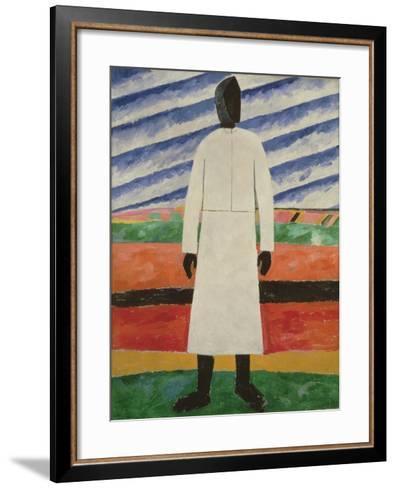 Peasant Woman, 1928-32-Kazimir Severinovich Malevich-Framed Art Print