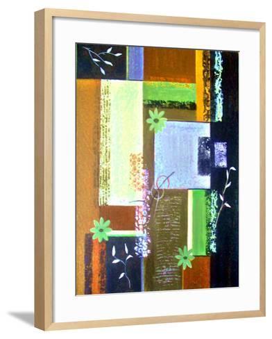 Retro Floral 1-Ruth Palmer-Framed Art Print