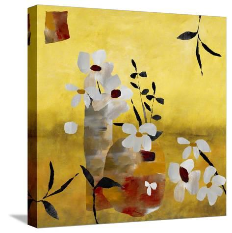 White Floral Collage II-Ruth Palmer-Stretched Canvas Print