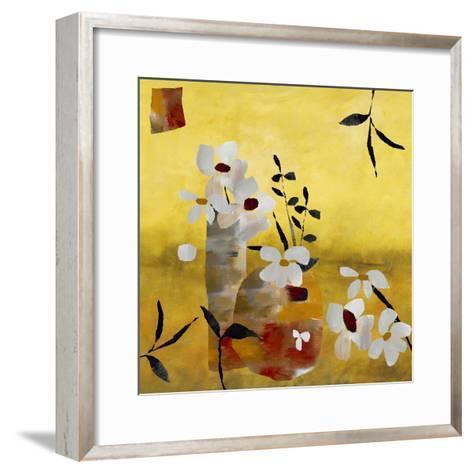 White Floral Collage II-Ruth Palmer-Framed Art Print