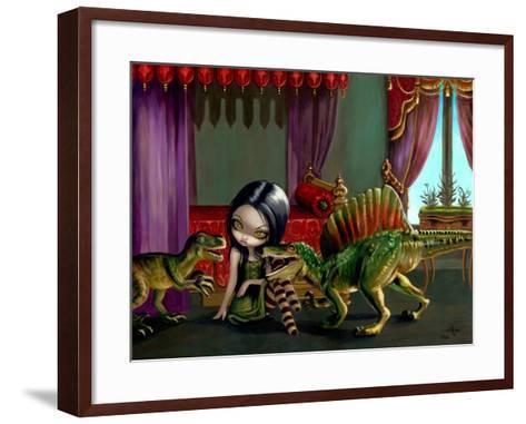 Dinosaur Friends II-Jasmine Becket-Griffith-Framed Art Print