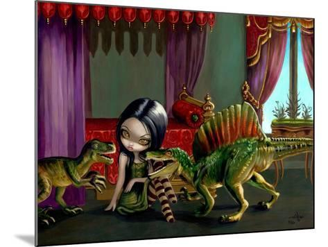 Dinosaur Friends II-Jasmine Becket-Griffith-Mounted Art Print