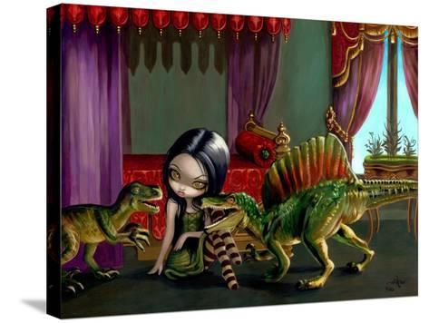 Dinosaur Friends II-Jasmine Becket-Griffith-Stretched Canvas Print