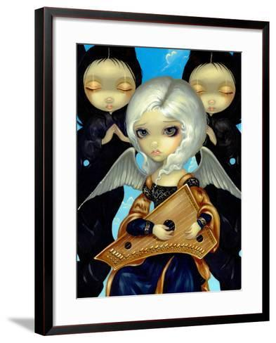 Angel with a Psaltery-Jasmine Becket-Griffith-Framed Art Print