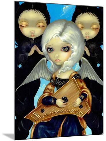 Angel with a Psaltery-Jasmine Becket-Griffith-Mounted Art Print