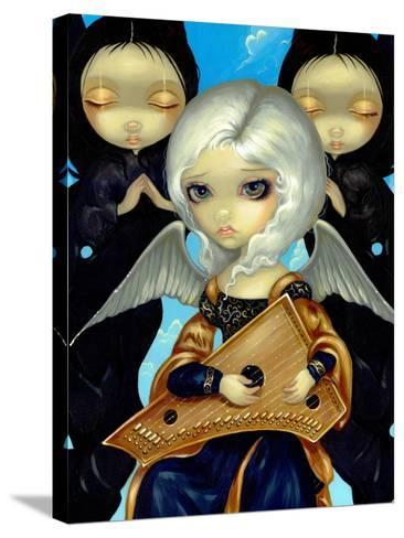 Angel with a Psaltery-Jasmine Becket-Griffith-Stretched Canvas Print