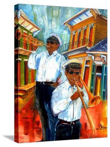 Jazz in Treme-Diane Millsap-Stretched Canvas Print