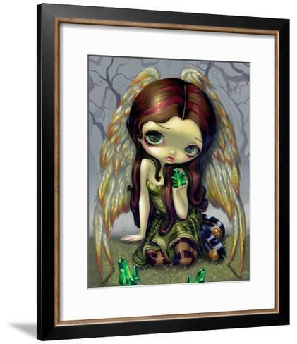 Angel with Emeralds-Jasmine Becket-Griffith-Framed Art Print