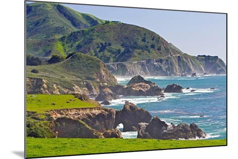 Big Sur Coastline at Rocky Creek-George Oze-Mounted Photographic Print