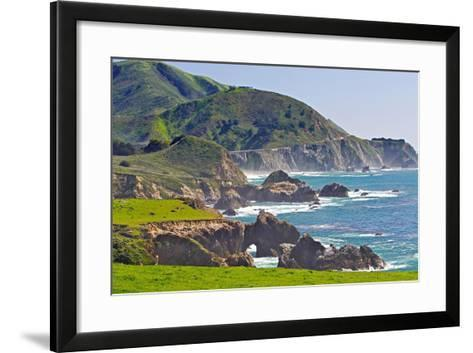 Big Sur Coastline at Rocky Creek-George Oze-Framed Art Print