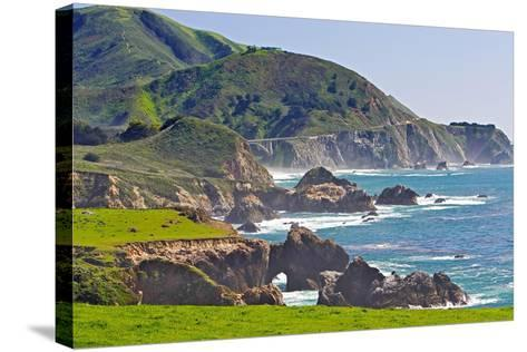 Big Sur Coastline at Rocky Creek-George Oze-Stretched Canvas Print