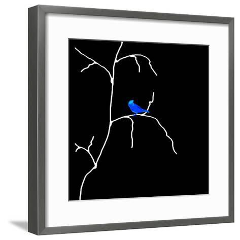 Alone But Never Lonely Black-Ruth Palmer-Framed Art Print