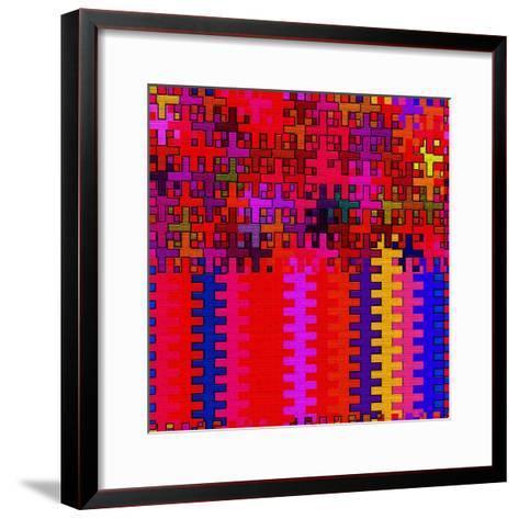 Multicolored  Interlock-Ruth Palmer-Framed Art Print