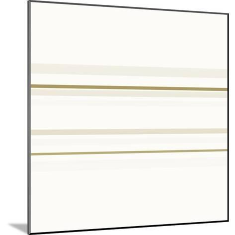 Neutral Lines On White-Ruth Palmer-Mounted Art Print