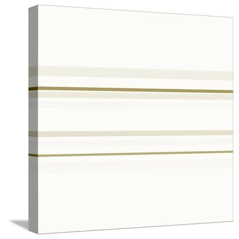 Neutral Lines On White-Ruth Palmer-Stretched Canvas Print