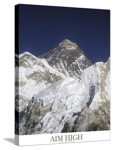 Aim High - Mt Everest-AdventureArt-Stretched Canvas Print