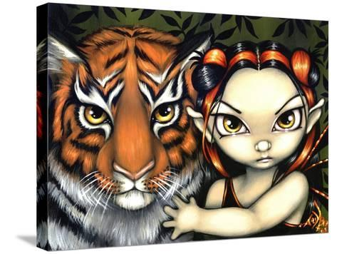 Fairy Taming a Tiger-Jasmine Becket-Griffith-Stretched Canvas Print