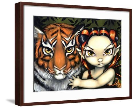 Fairy Taming a Tiger-Jasmine Becket-Griffith-Framed Art Print