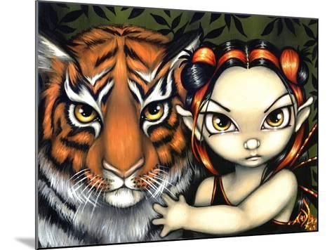 Fairy Taming a Tiger-Jasmine Becket-Griffith-Mounted Art Print
