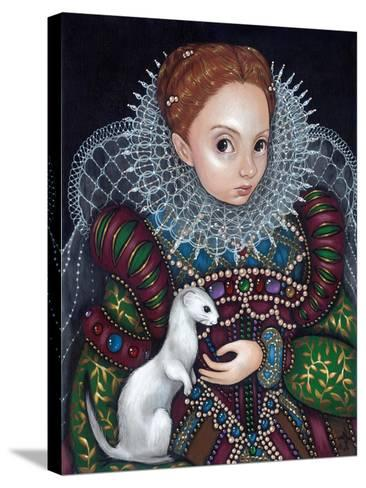 Queen Elizabeth I and an Ermine - a Tudor Portrait-Jasmine Becket-Griffith-Stretched Canvas Print