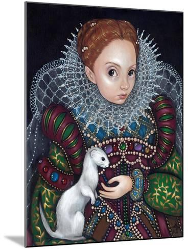 Queen Elizabeth I and an Ermine - a Tudor Portrait-Jasmine Becket-Griffith-Mounted Art Print