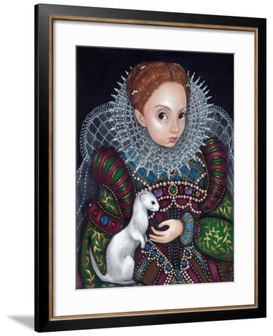 Queen Elizabeth I and an Ermine - a Tudor Portrait-Jasmine Becket-Griffith-Framed Art Print