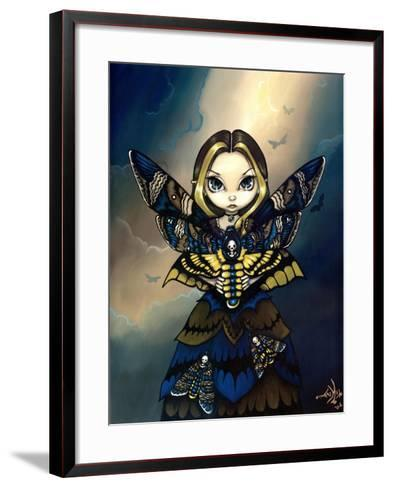 Moth Queen Fairy:   Acherontia atropos-Jasmine Becket-Griffith-Framed Art Print
