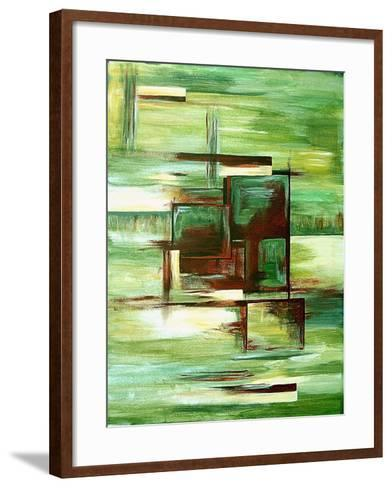 Sections-Ruthie Digital Abstract-Framed Art Print