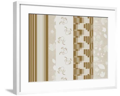 Five Pattern Brown-Ruth Palmer-Framed Art Print