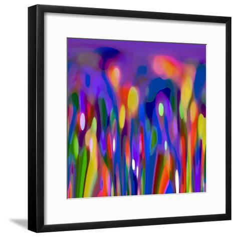 Blue Fusion-Ruth Palmer-Framed Art Print