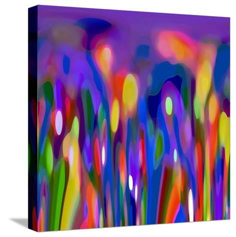 Blue Fusion-Ruth Palmer-Stretched Canvas Print