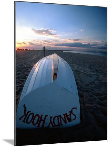 Boat on Sandy Hook Beach, New Jersey-George Oze-Mounted Photographic Print
