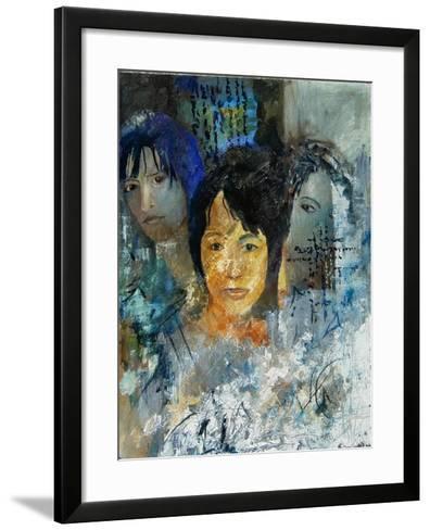 Three women's faces-Pol Ledent-Framed Art Print