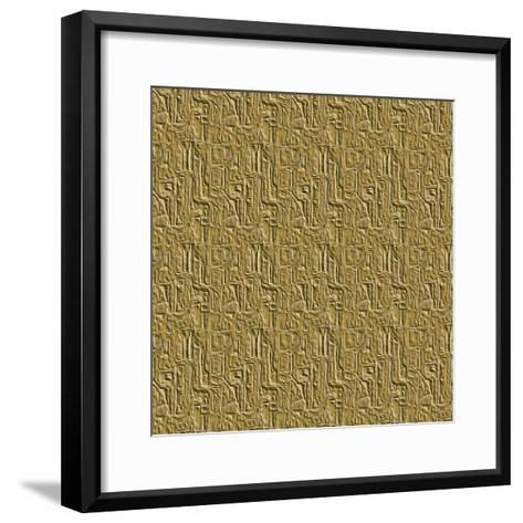 Gold Embossed Tile-Ruth Palmer-Framed Art Print