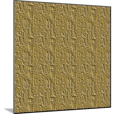 Gold Embossed Tile-Ruth Palmer-Mounted Art Print