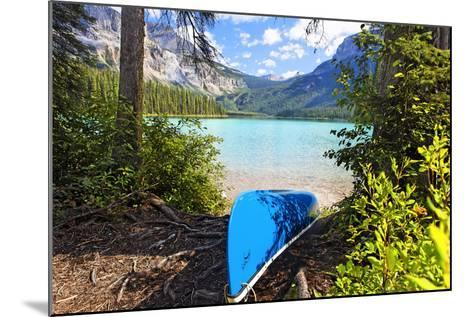 Boat on the Shore, Emerald Lake, Canada-George Oze-Mounted Photographic Print