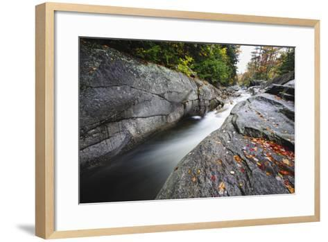 Casacading Creek, White Mountains, NH-George Oze-Framed Art Print